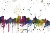 Buffalo New York Skyline Multi Colored 1
