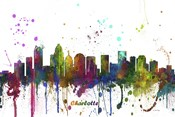 Charlotte NC Skyline Multi Colored 1