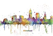 Cleveland Ohio Skyline Multi Colored 1