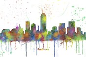 Indianapolis Indiana Skyline Multi Colored 1
