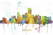 Jersey City New Jersey Skyline Multi Colored 1