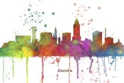 Lincoln Nebraska Skyline Multi Colored 1