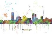 Milwaukee Wisconsin Skyline Multi Colored 1