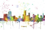 Newark New Jersey Skyline Multi Colored 1