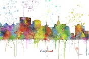 Oakland California Skyline Multi Colored 1