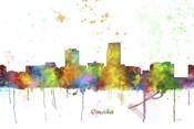 Omaha Nebraska Skyline Multi Colored 1