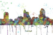 Raleigh North Carolina Skyline Multi Colored 1
