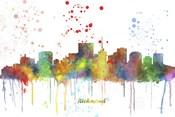 Richmond Virginia Skyline Multi Colored 1