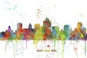Salt Lake City Utah Skyline Multi Colored 1