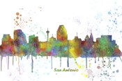 San Antonio Texas Skyline Multi Colored 1