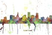 St Paul Minnesota Skyline Multi Colored 1