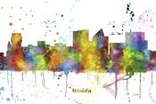 Wichita Kansas Skyline Multi Colored 1