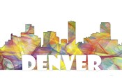 Denver Colorado Skyline Multi Colored 2