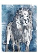 Grey Blue Lion