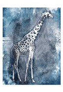 Grey Blue Giraffe