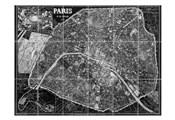 Paris Map BW