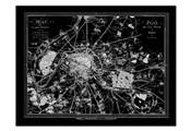 Paris Map 2 BW