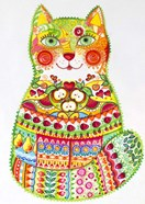 Green Folk Cat 1