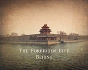 Vintage The Forbidden City in Beijing, China, Asia