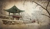 Vintage Winter at Wonhyosa Temple, Korea, Asia