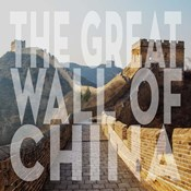 Vintage The Great Wall of China, Asia, Large Center Text