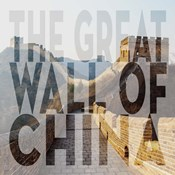 Vintage The Great Wall of China, Asia, Large Center Text II