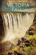 Vintage Victoria Falls, Livingstone, Africa