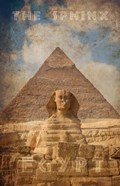 Vintage Great Sphinx of Giza, Pyramids, Egypt, Africa