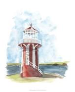 Watercolor Lighthouse III