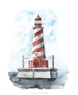 Watercolor Lighthouse IV