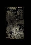Gold Foil City Map Boston on Black
