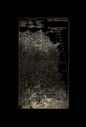 Gold Foil City Map San Francisco on Black