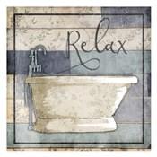 Relaxing Wooden Bath