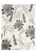Flower Pattern Grey