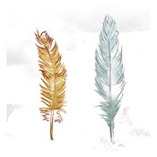 Gold Silver Feather