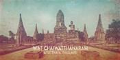 Vintage Wat Chaiwatthanaram, Thailand, Asia