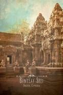 Vintage Banteay Srei, Cambodia, Asia