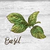 Basil on Wood
