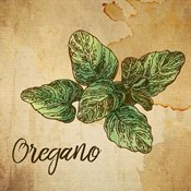 Oregano on Burlap
