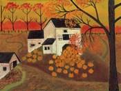 Pumpkin Barn Autumn Folk Art