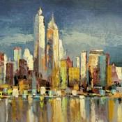 Manhattan Aqua (detail)