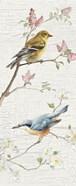 Vintage Birds Panel I