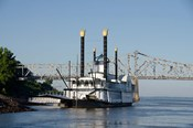 Paddlewheel boat and casino, Mississippi River, Mississippi