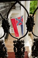 Mississippi Mississippi state flag at the Waverley Plantation