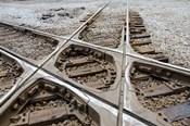 Mississippi, Corinth Crossroads Museum Rail track crossing