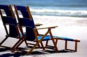 Beach Chairs, Umbrella, Ship Island, Mississippi