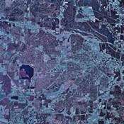 Satellite view of Jackson, Mississippi