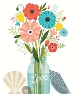 Seaside Bouquet II Mason Jar
