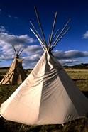 Sioux Teepee at Sunset, Prairie near Mount Rushmore, South Dakota