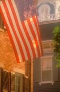 Massachusetts, Nantucket Island, US flag